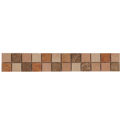 Mozaiek tegelstrip marmer 5x30cm B667 Topmozaiek24