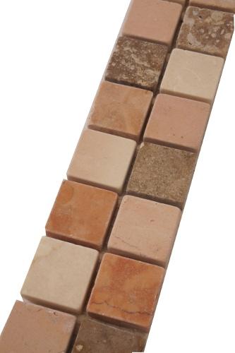 Mozaiek tegelstrip in landelijke stijl