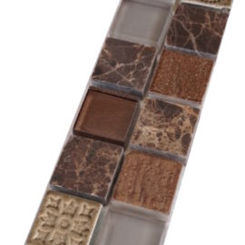 Mozaiek tegelstrip marmer glas 5x30cm B187(2) Topmozaiek24