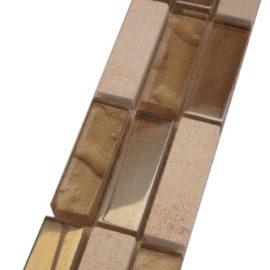 Mozaiek tegelstrip marmer glas 5x30cm B676 Topmozaiek24