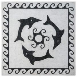 Mozaiek_medallion_dolfijn